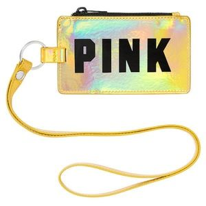 NEW Victorias Secret Pink holographic card Lanyard